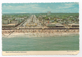 Rehoboth Beach MD Beach Boardwalk Aerial View 1970s Paul Rodgers Postcar... - $6.49
