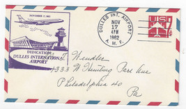 Dulles International Airport Dedication Cover 1962 AMF UC34 - $6.49