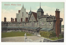 UK England Windsor Castle Cloisters Vtg E Marshall Postcard c 1910 - $6.49