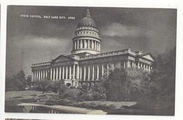 UT Salt Lake City Utah State Capitol Vintage Mayrose Co 1940s Postcard - $6.49