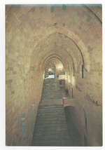 Greece Rhodes Grand Master's Palace Knights Staircase Entrance Vtg Postc... - $6.49