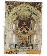 Austria Basilica Wilten Innsbruck Interior Our lady Altar Nave Vtg Postc... - $6.49