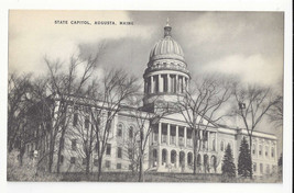 ME Augusta Maine State Capitol Vintage Mayrose Co 1940s Postcard - $6.49