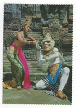 Bali Ramayana Ballet Balinese Dancers Costumes Vtg Indonesia Postcard 4X6 - $6.49