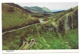 Hawaii Nuuanu Pali Tunnels Oahu Aerial View Ko'olau Mountain Vtg Postcar... - $6.49