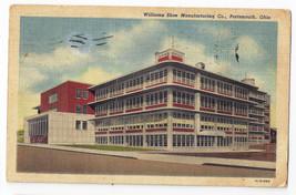 Akron OH Williams Shoe Manurfacturing Porstmouth Ohio Factory 1951 Postcard - $6.49