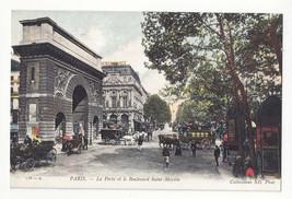 France Paris La Porte et le Boulevard Saint Martin Vtg Neurdein Postcard - $6.78