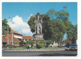 Bali Denpasar Demonic Guardian Statue Vtg Indonesia Postcard 4X6 - $6.78