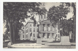 NH Concord New Hampshire State Capitol Vintage Mayrose Co 1940s Postcard - $6.78