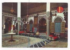 Morocco Maroc Fes Fez Mnabhi Mnebhi Palace Interior Vtg Postcard 4X6 - $6.78