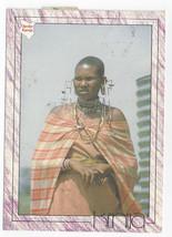 Kenya Africa Maasai Woman Jewelry 1995 Eric Harris Postcard 4x6 - $6.78