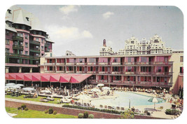 Atlantic City Marlborough Blenheim Hotel Swimming Pool Vintage Postcard NJ - $6.49