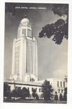 NE Lincoln Nebraska State Capitol Vintage Mayrose Co 1940s Postcard - $6.49