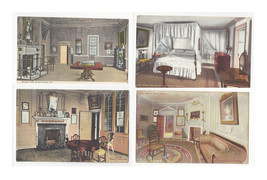 VA Mount Vernon 4 Interiors Banquet Hall Library Bedroom West Parlor Vtg... - $6.78