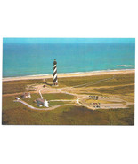 Cape Hatteras Lighthouse Diamond Shoals Aerial View Vtg Postcard NC - $6.49