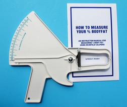 Slim Guide Skin Fold Caliper, The Original, Made In USA, White & Teal - $29.95