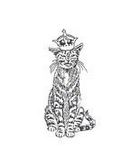 Unmounted Rubber Stamp: Royal Cat - $2.75