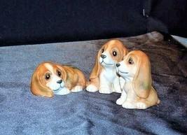 HOMCO Playful Puppy Figurines 1407 AA18 - 1167  Vintage set of 5 image 2