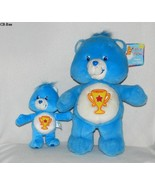 "Carebear 13"" Blue Trophy Bear and 7"" Little Trophy Bear Dated 2003 - $19.99"