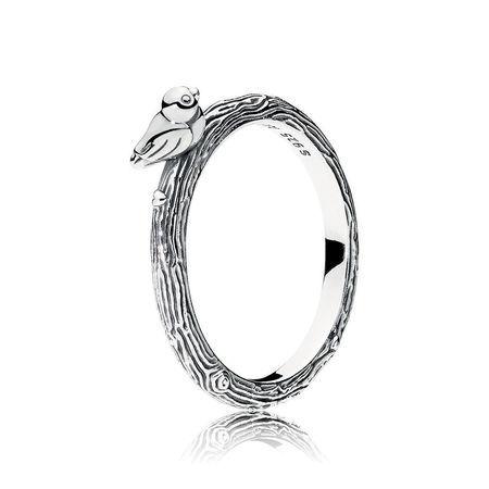 Spring Real 925 Sterling Silver Original Spring Bird Pandora Ring Women