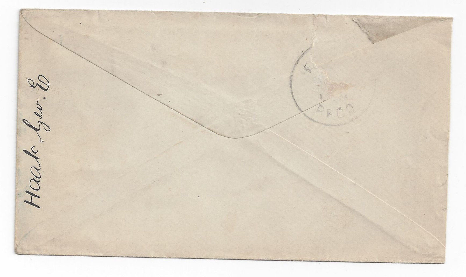 19th Century Cover Reading PA Fancy Cancel Solid Obliterator Bullseye placement image 2
