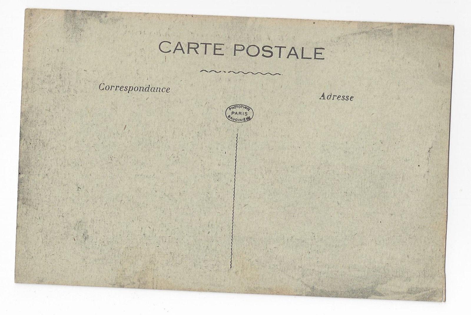 WWI France Bar Le Duc Bouldevard Rochelle Bus Truck c 1918 Postcard