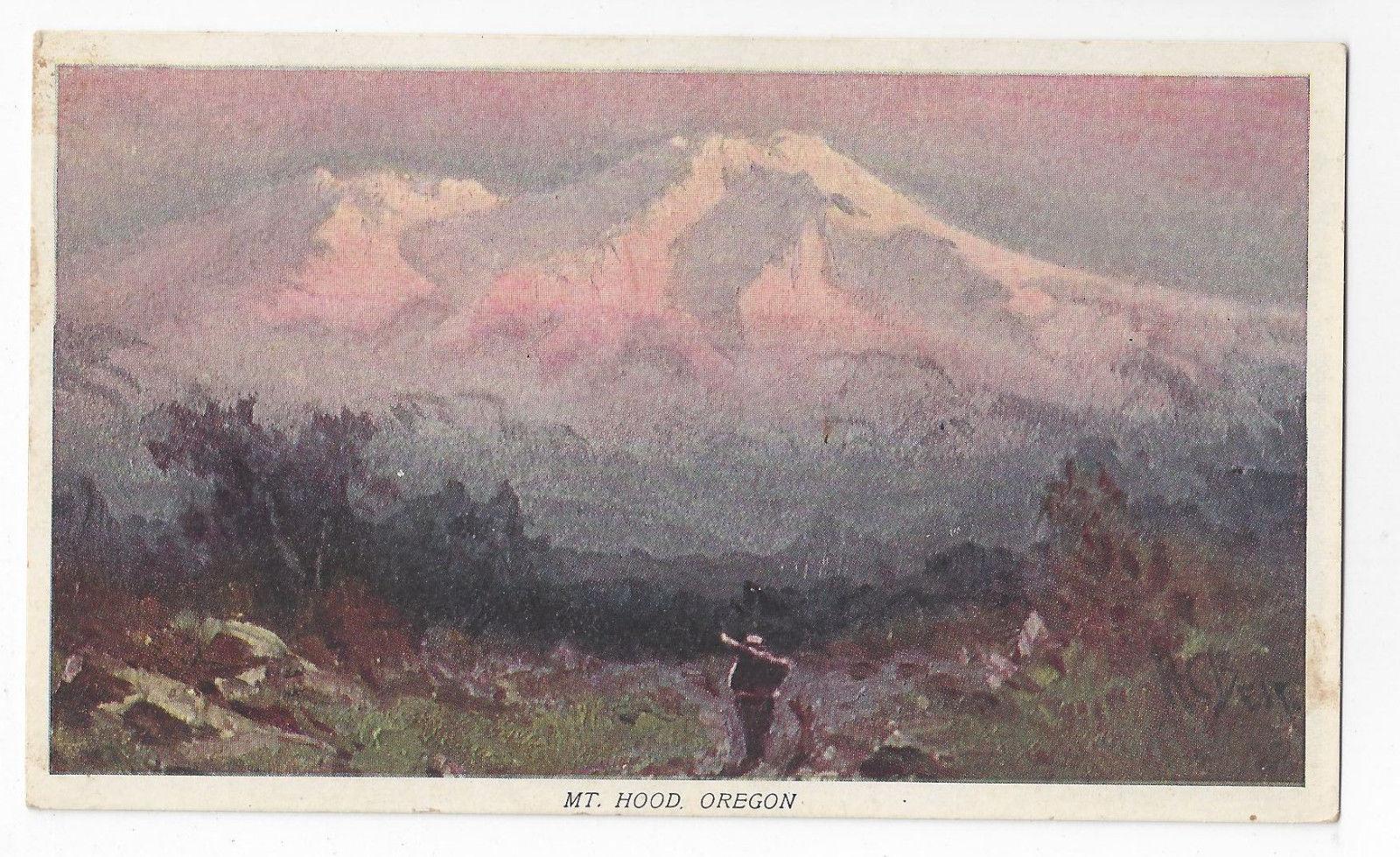 Prudential Insurance Advertising Postcard Mt Hood Oregon Vintage Art