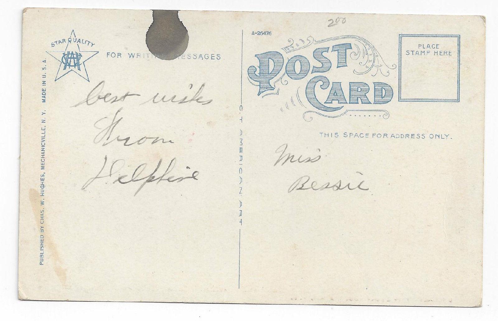Utica NY Oneida County Court House New York ca 1920 Chas Hughes Postcard