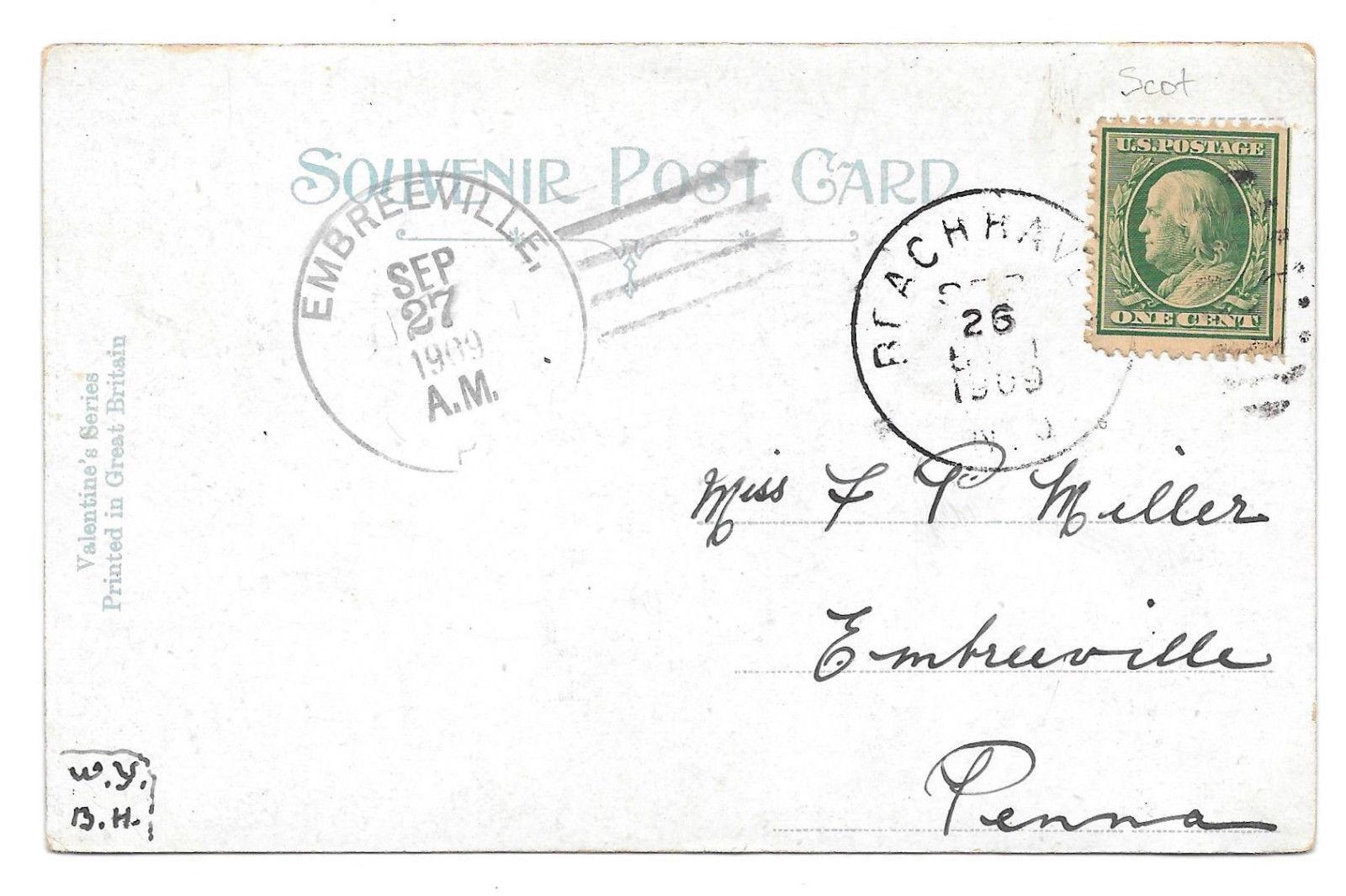 Scotland Loch Katrine Path Stirling Vtg 1909 Valentines UDB Postcard