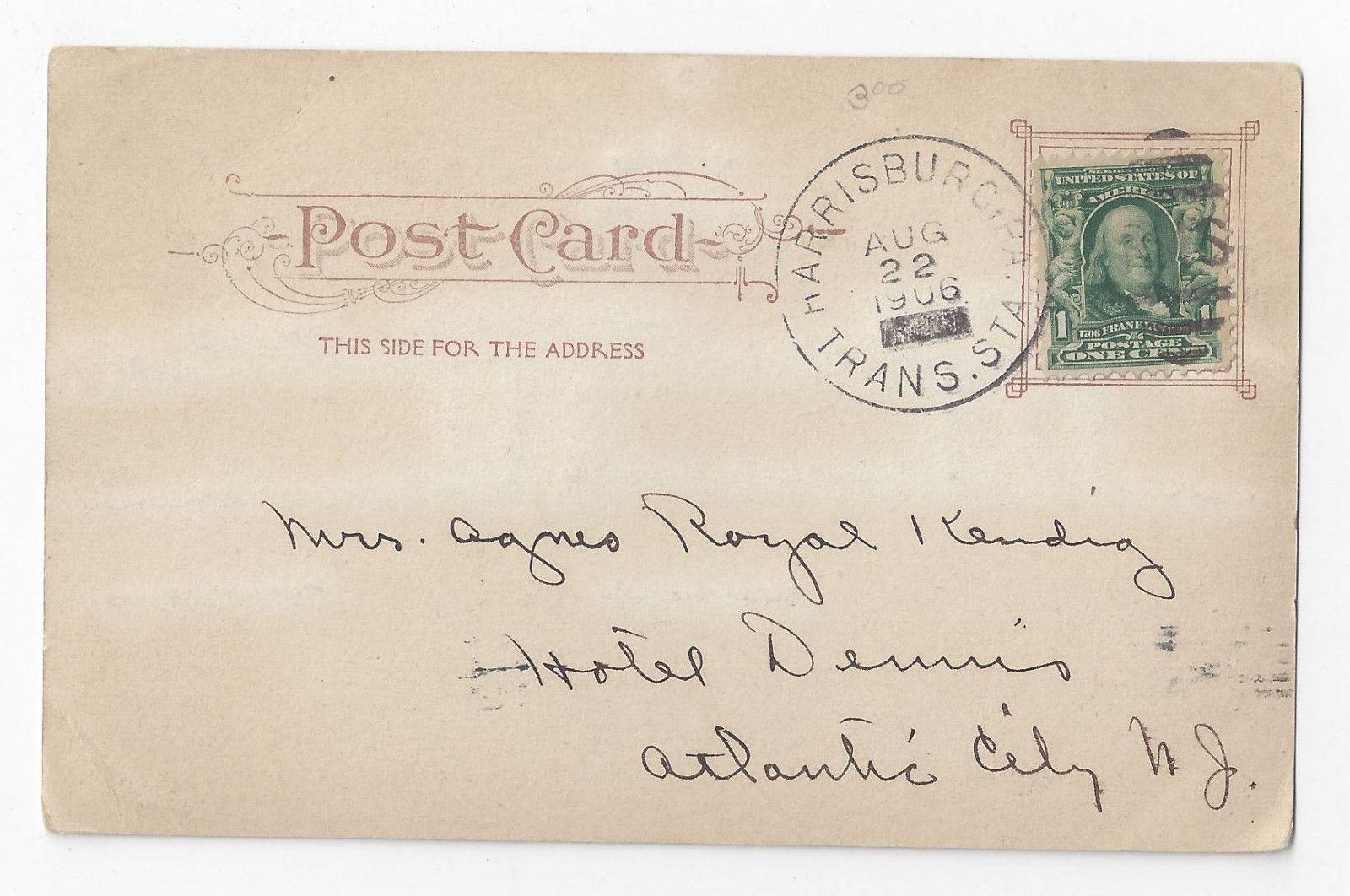 PA Harrisburg New Capitol Building Glitter Outlines Vintage 1906 UDB Postcard