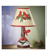Cardinals Perched On Snowy Tree Lamp (col) D15 - $296.99