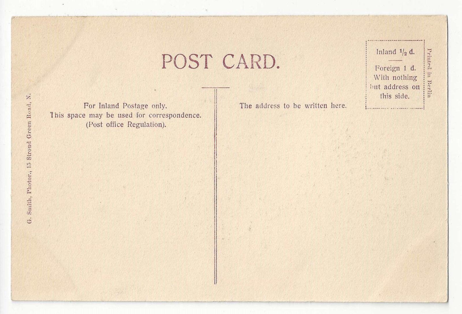 UK England London Old Curiosity Shop Waste Paper Merchant Sign Vtg Postcard