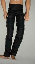 Barbie boyfriend Ken clothes long black pants fit jointed wrist dolls - $10.99