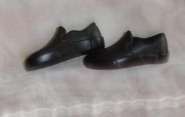 Loafer black casual shoes for Barbie Boyfriend Ken fashionista doll - $6.99