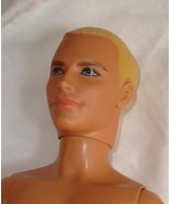 Nude blond Ken doll painted hair monogrammed underwear wears wigs - $44.99