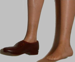 Ken doll vintage Mattel solid brown shoe marked Japan ONE ONLY - $6.99