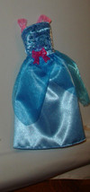 Barbie doll formal gown dress blue princess costume Disney Cinderella wi... - $7.99