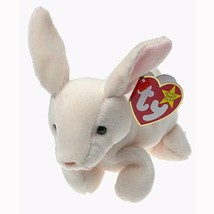 Nibbler the Cream Easter Bunny Retired Ty Beanie Baby MWMT Collectible - $8.86