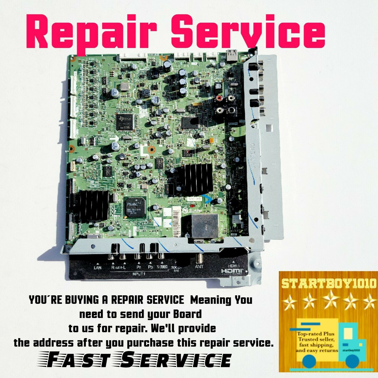 Primary image for Mitsubishi Main Board Repair Service LT40164 LT46164 LT46165 LT55164 934C374002