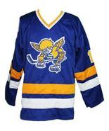 Boudreau #19 Minnesota Fighting Saints Retro Hockey Jersey New Sewn Any ... - $54.99+