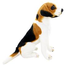 10 Inch Realistic Stuffed Animal Toy Dog Plush Lifelike Sitting Beagle Gift Kid - $33.99