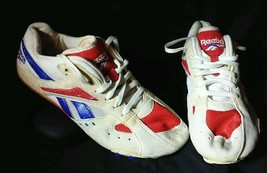 Vintage Reebok Athletics Sprint Track Shoes Spikes cleats Team USA Mens ... - $23.48