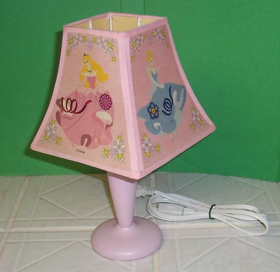 Disney Princesses Pink Decorative Reflective Accents Table