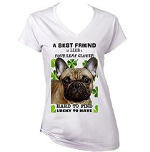French Bulldog 3 Best Friend   New Cotton Graphic White T Shirt Medium Size - $22.49