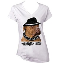 FRENCH MASTIFF GINGER GANGSTER BOSS - New Cotton Graphic White T-Shirt L... - $22.49