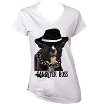 BLACK FRENCH BULLDOG PUPPY DOG RULES - New Cotton Graphic White T-Shirt ... - $22.49
