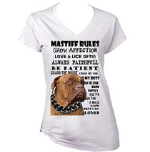 FRENCH MASTIFF GINGER DOG RULES - New Cotton Graphic White T-Shirt Large... - $22.49