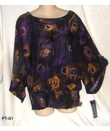 J.T.B. Womens Plus Size XL Purple Knit Blouse with Jewelry NWT - $15.99