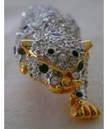 Pin/Brooch, Rhinestone and Stone Encrusted Leopard, New   - $20.00