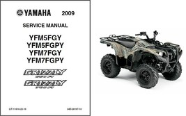 2009-11 Yamaha Grizzly 550 FI / 700 FI ATV Service Repair Manual CD .. YFM5 YFM7 - $12.00